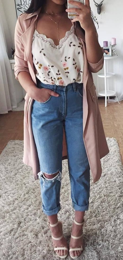 Simple spring outfits ideas, casual wear