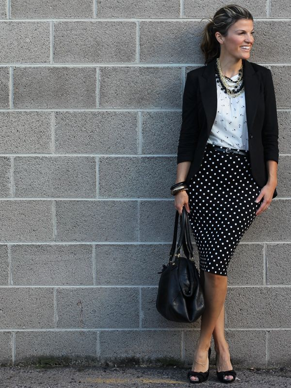 Colour to wear with black and white skirt