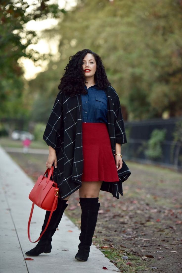Outfit ideas curvy winter outfits plus size clothing, knee high boot