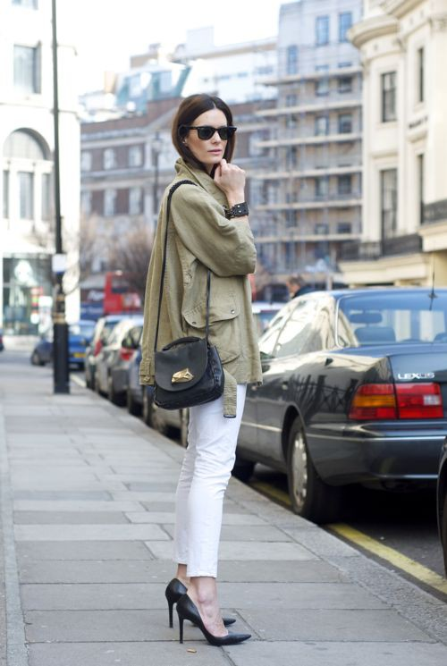 White outfit ideas with trench coat, trousers, jacket