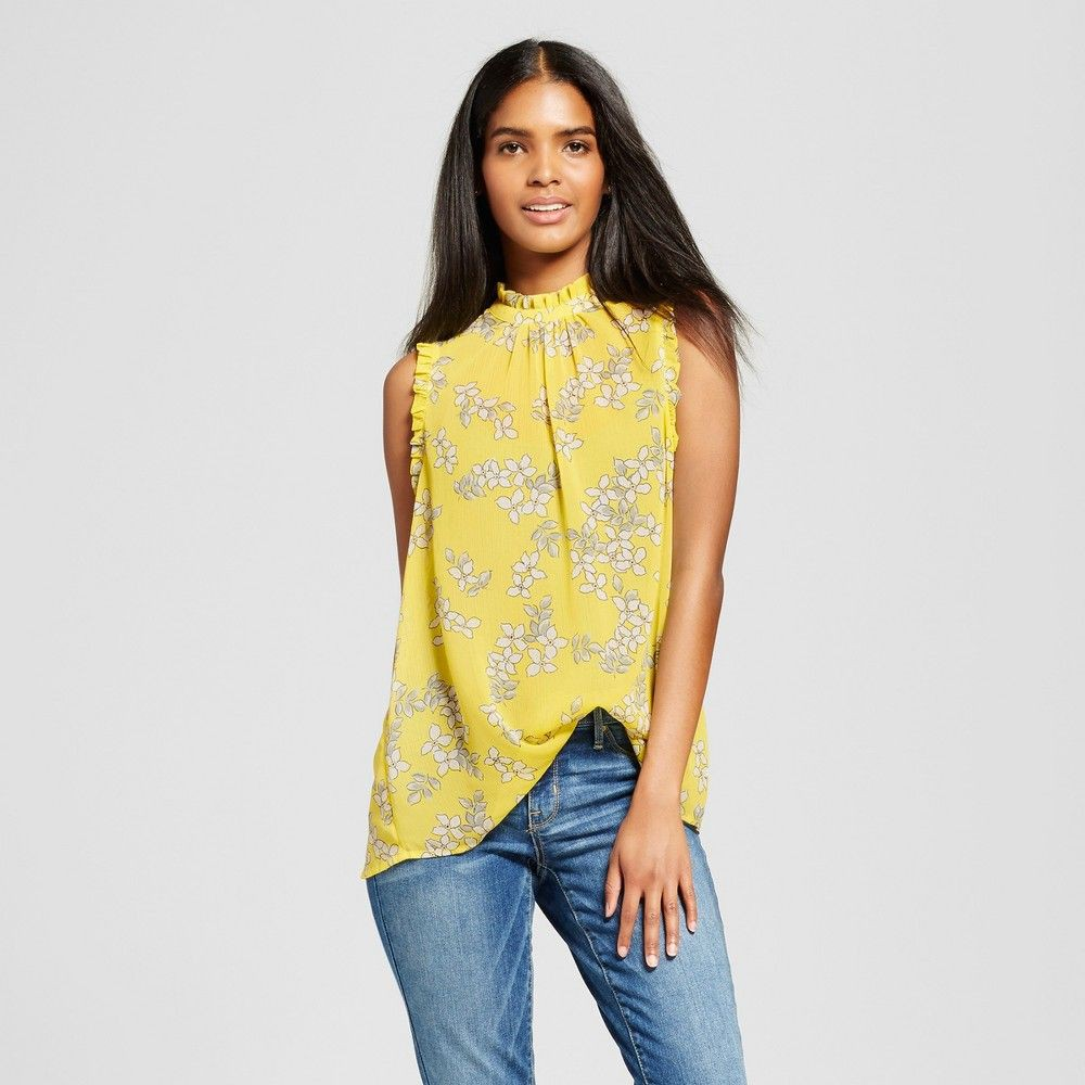 Yellow dresses ideas with sleeveless shirt, blouse, top