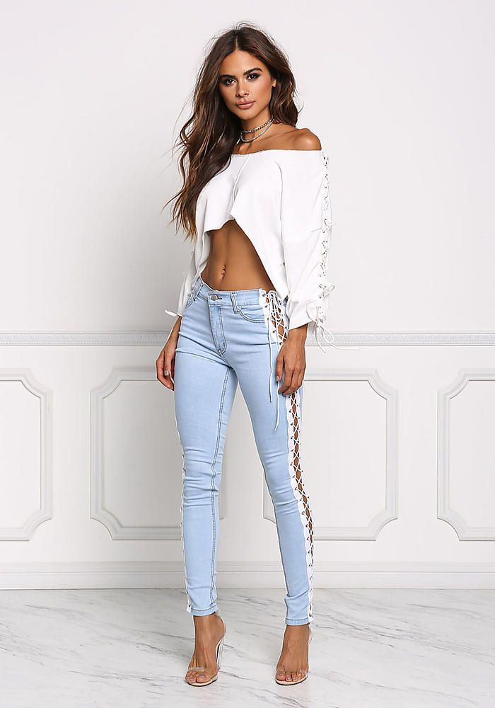 Light skinny jeans outfits, Crop top