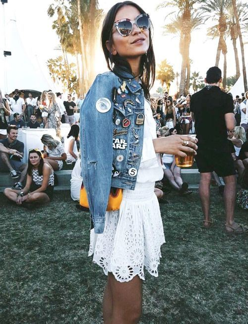 Colour outfit, you must try festival denim jacket, leather jacket, street fashion, jean jacket