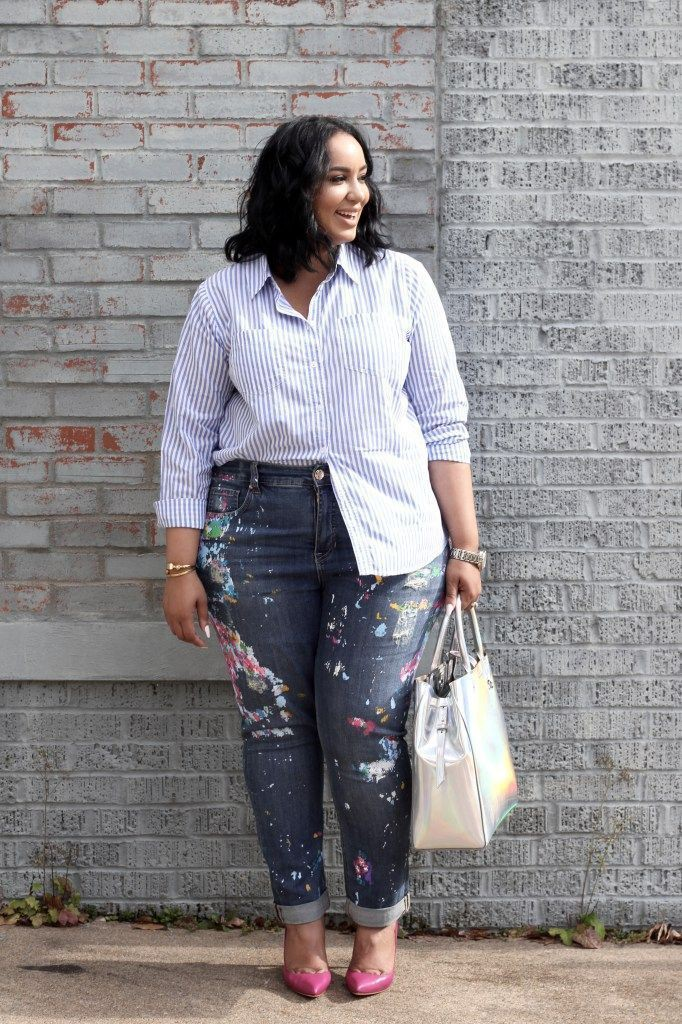 Street style plus size fashion