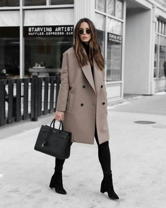 Colour ideas taupe coat style, winter clothing, street fashion, fashion boot, trench coat