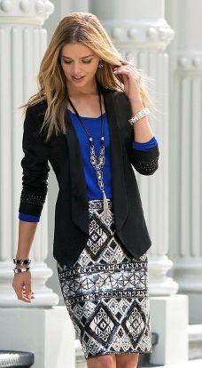 Blue and black corporate attire