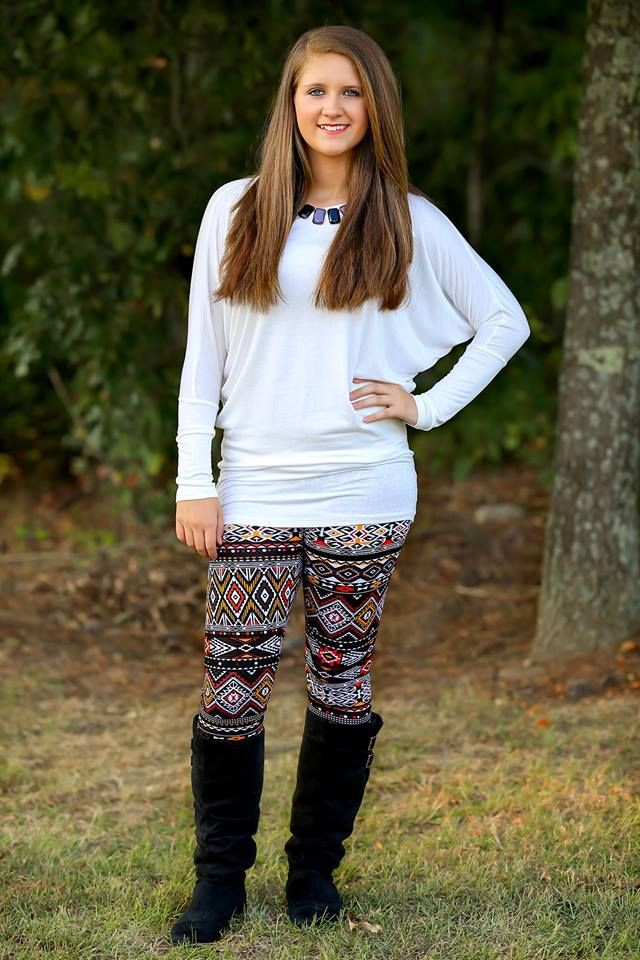 White outfit Pinterest with leggings, sweater, shorts