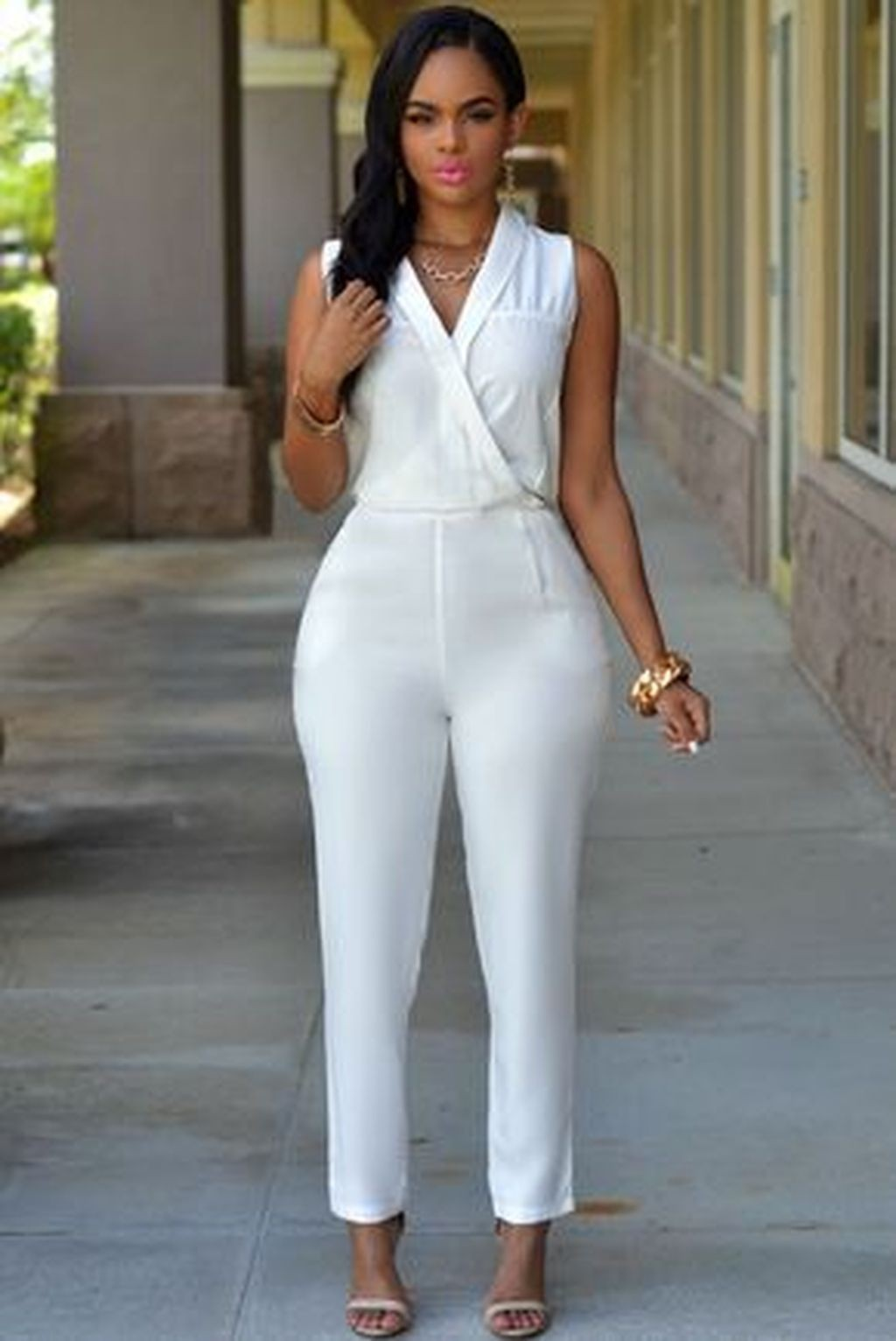Outfit ideas white jumpsuit outfit, jumpsuits & rompers, fashion model, casual wear, romper ...