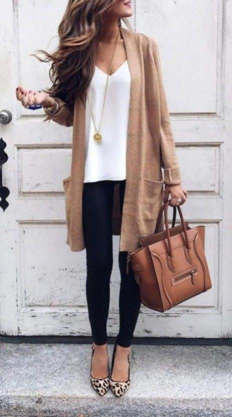 Trendy business casual outfits, business casual, street fashion, informal wear, ballet flat, cas ...