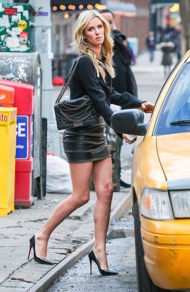 Nicky hilton leather