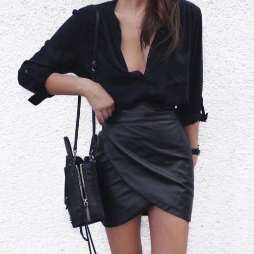 Black style outfit with little black dress, cocktail dress