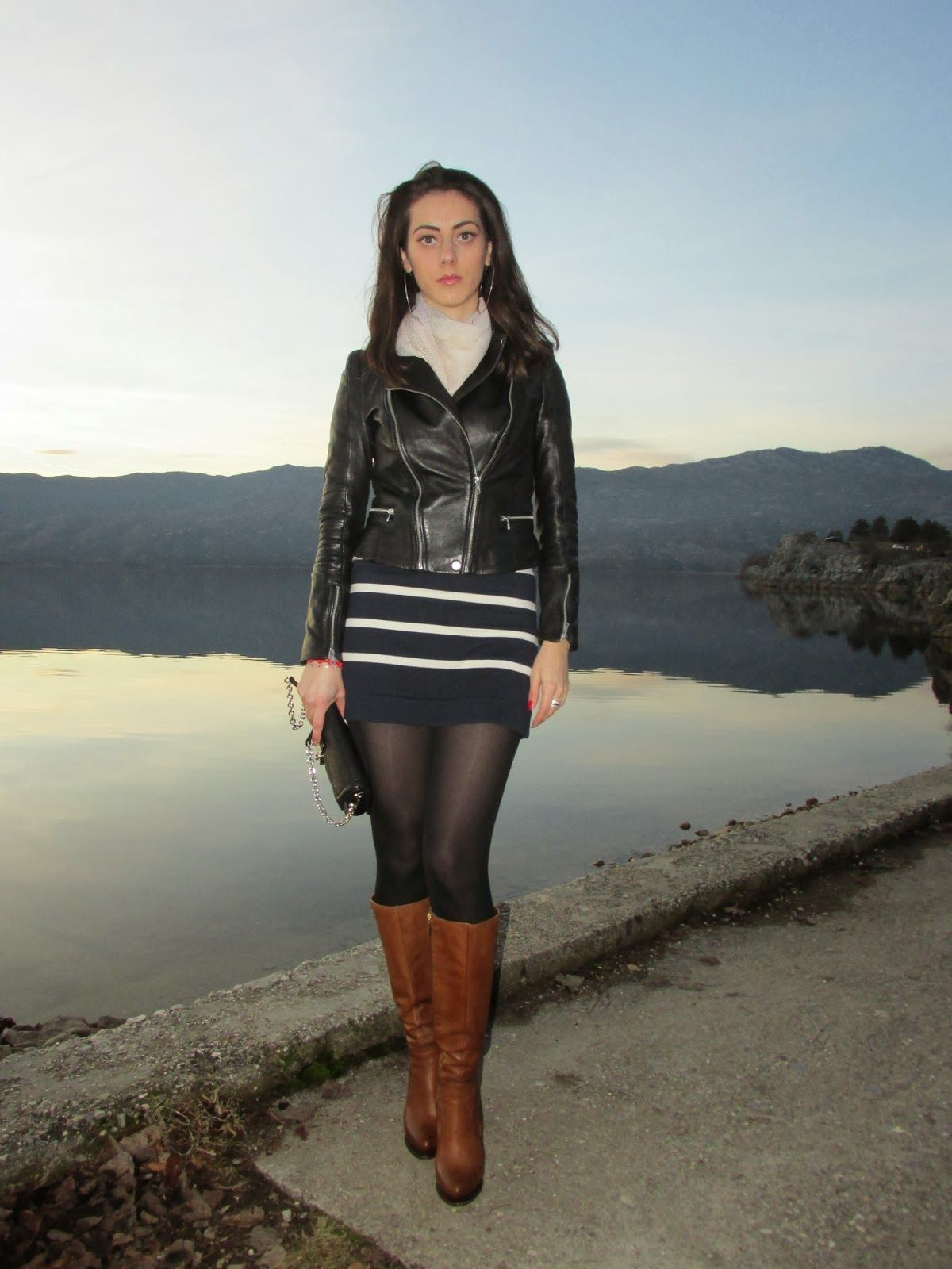 Outfit ideas stiefel strumpfhose blog