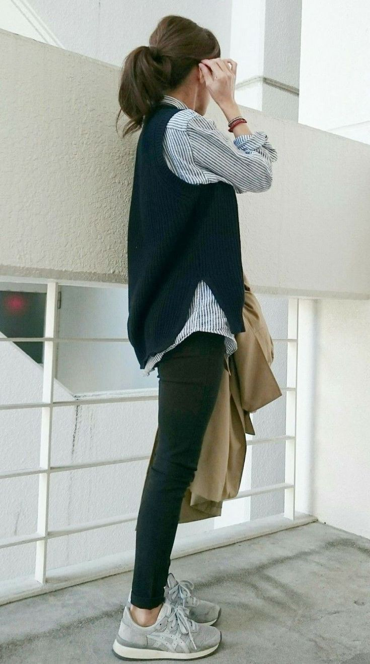 Khaki outfit with jacket, shirt, jeans
