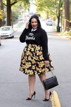 Outfit ideas fuste femei plinute plus size model, street fashion