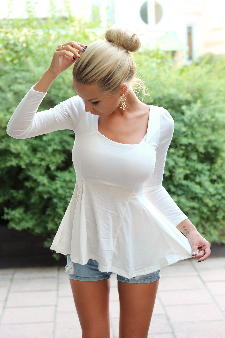 Shirts that flare out at bottom