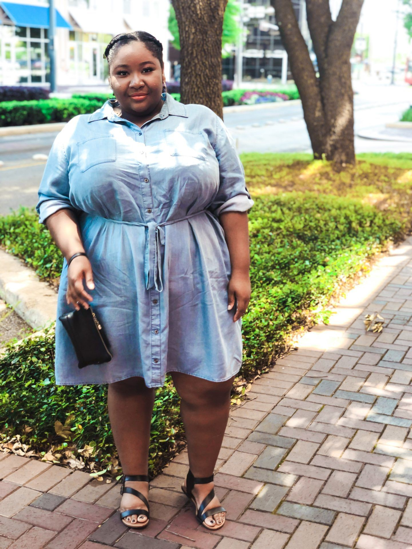 Turquoise and yellow outfit style with denim skirt, skirt, denim