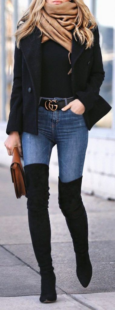Thigh high boots outfit ideas