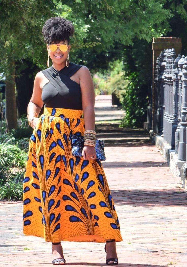 Ankara african print skirts plus size