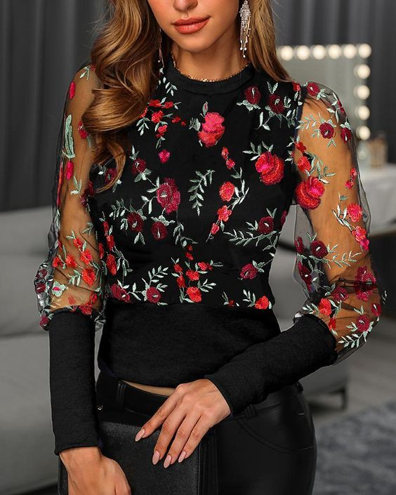 Black and pink blouse, top, outfit ideas