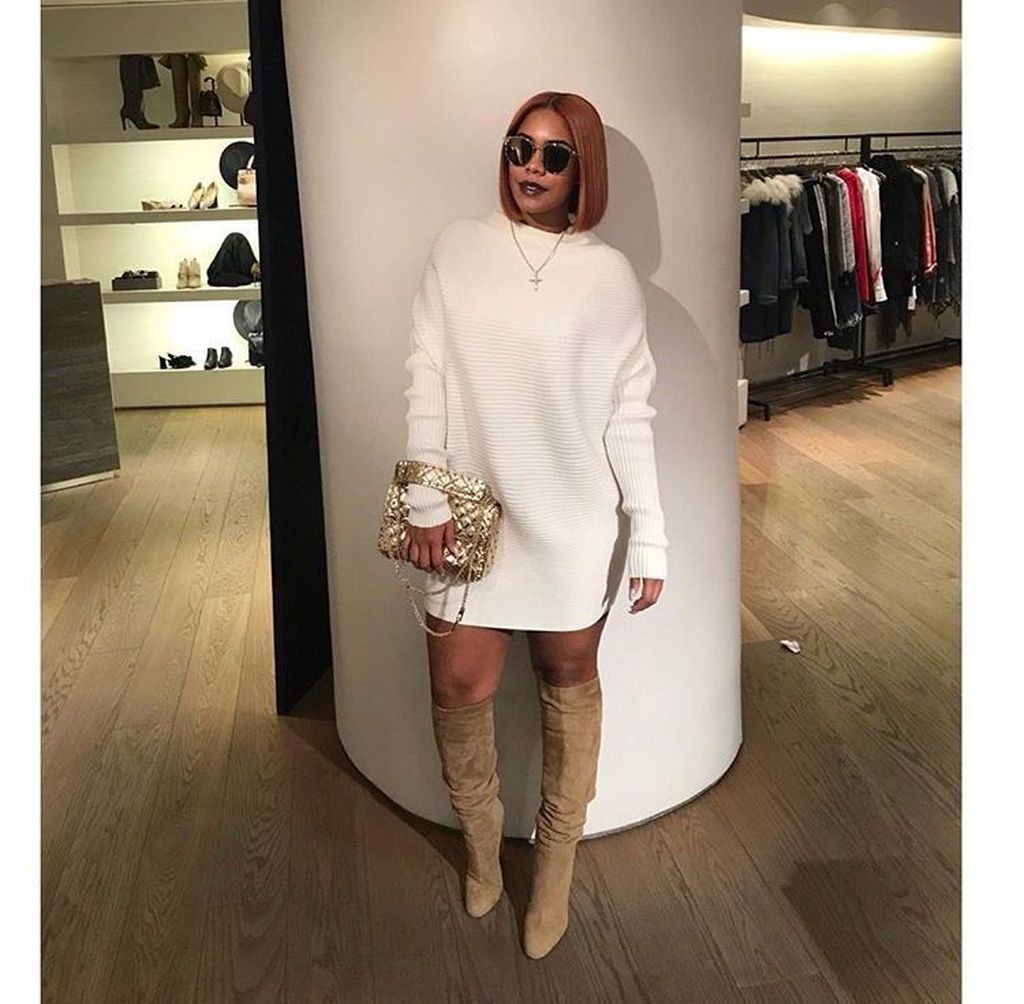 Beige and white colour outfit ideas 2020 with miniskirt, trousers, sweater