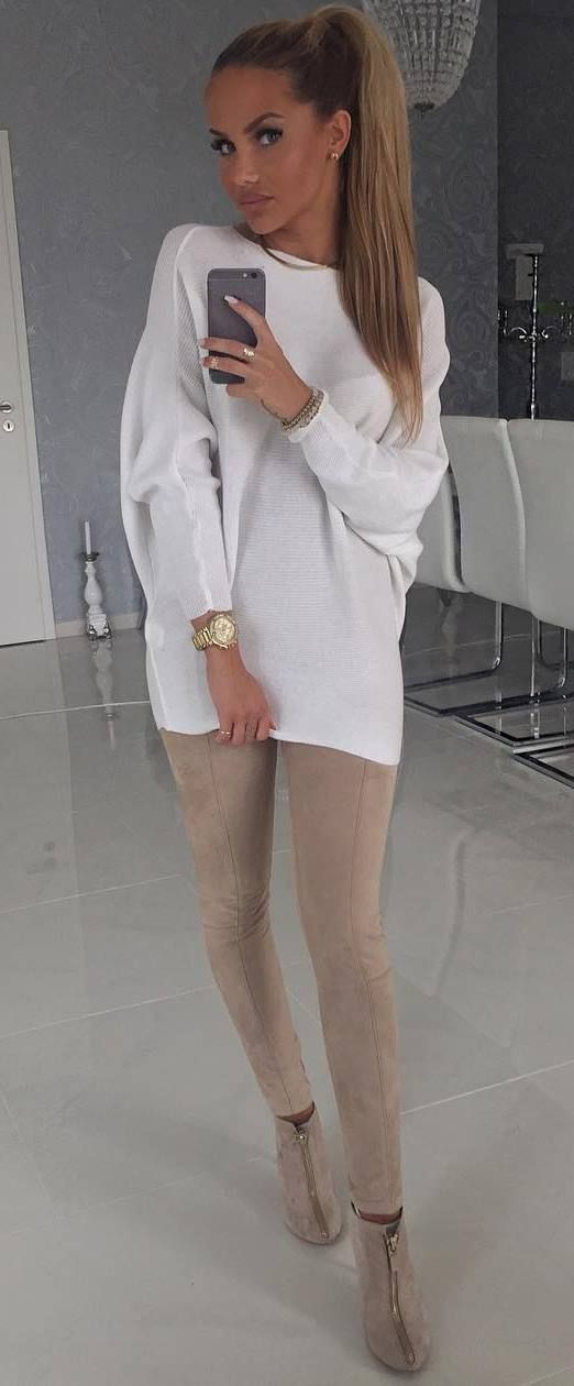 White outfit ideas with boot, shoe, street fashion