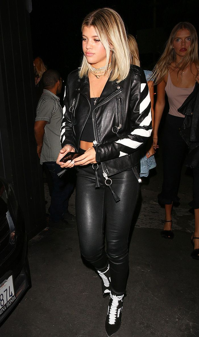 Colour outfit, you must try with leather jacket, latex clothing, trousers