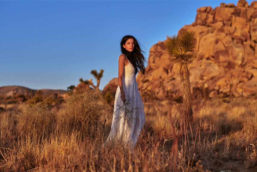 Patience Silva dress for girls, model photography, Long Hair Cut Women