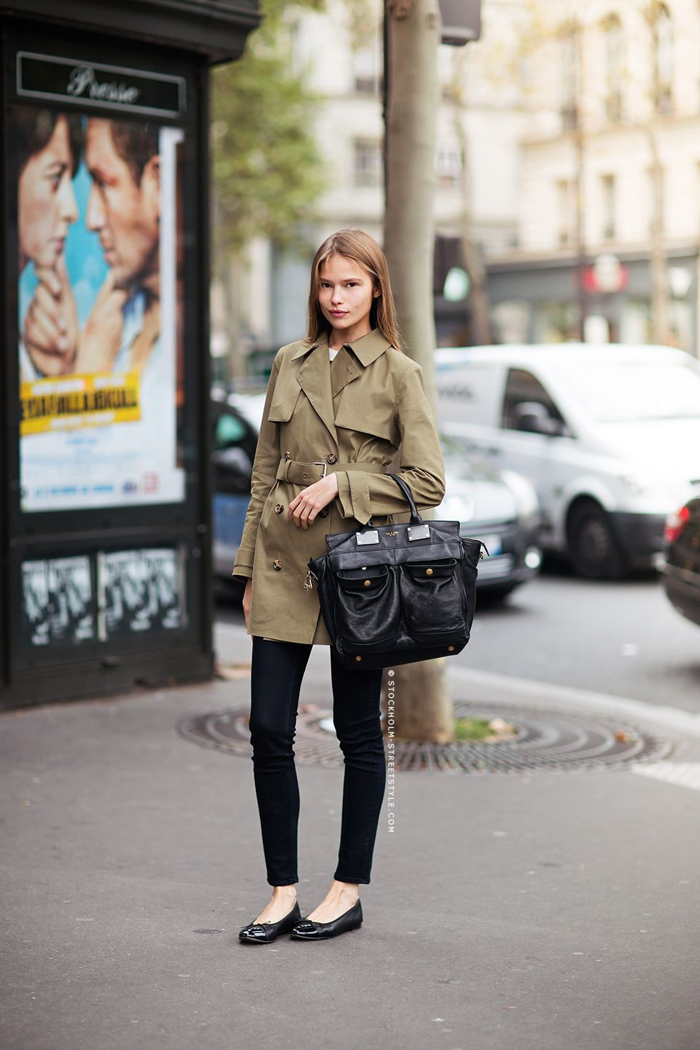 Khaki outfit ideas with trousers, jeans, coat