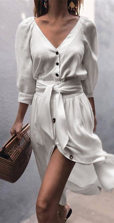 White outfit ideas with clothing sizes, casual wear