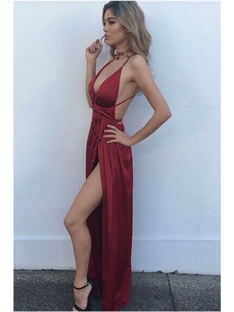 Maroon fashionnova clothing ideas with backless dress, cocktail dress, wedding dress