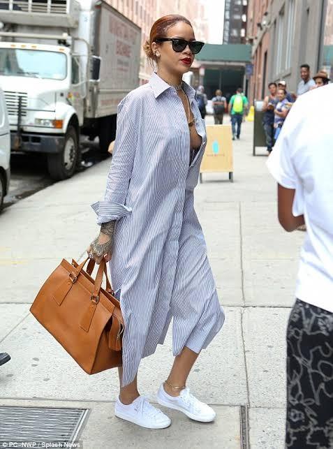 Unbuttoned shirt dress