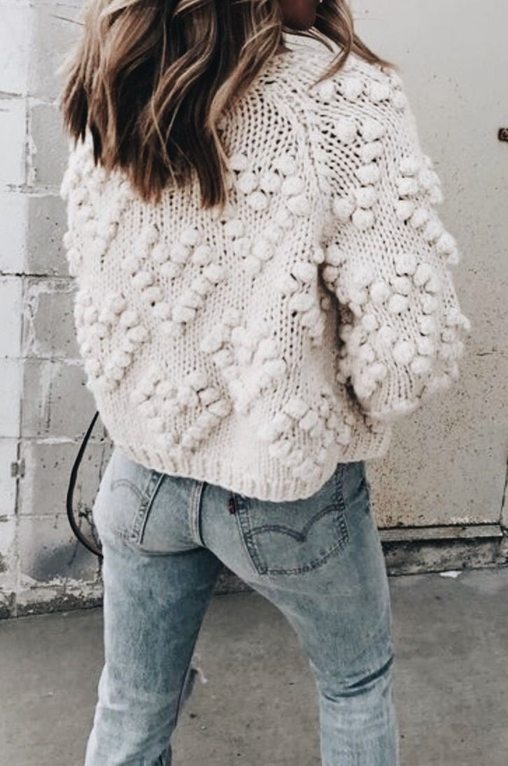 Outfit bobble knit jumper, winter clothing, t shirt