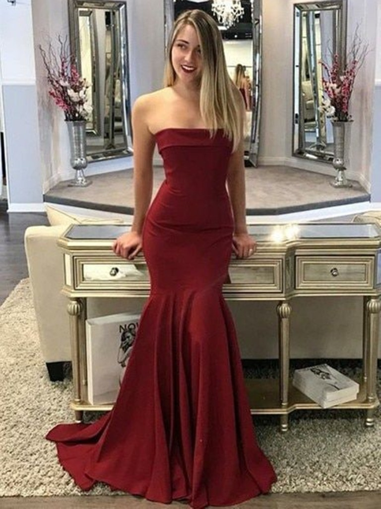 Colour outfit ideas 2020 strapless prom dress bridal party dress, strapless dress