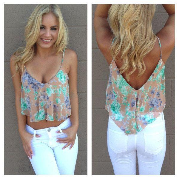 Summer clothes crop tops, dress shirt, crop top