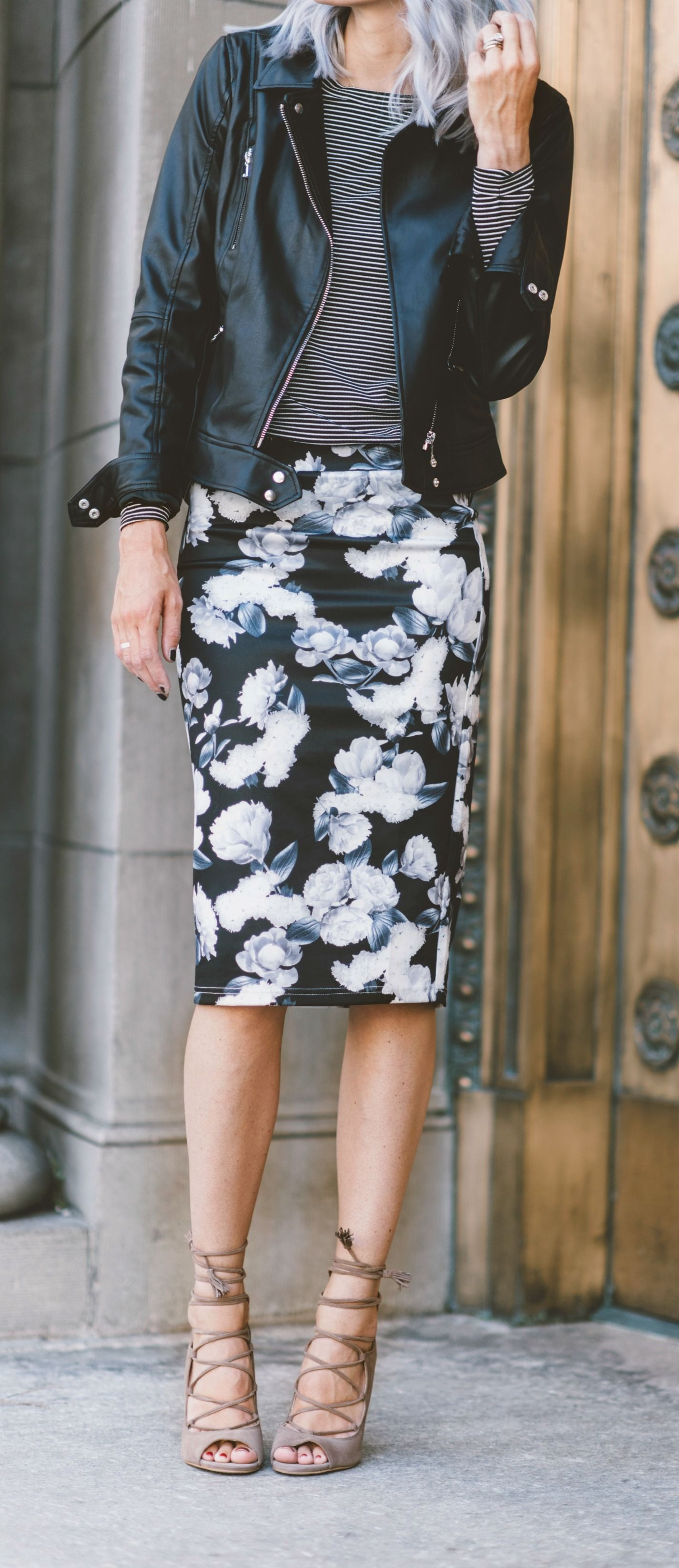 Floral pencil skirt ideas, street fashion, floral design, pencil skirt, casual wear