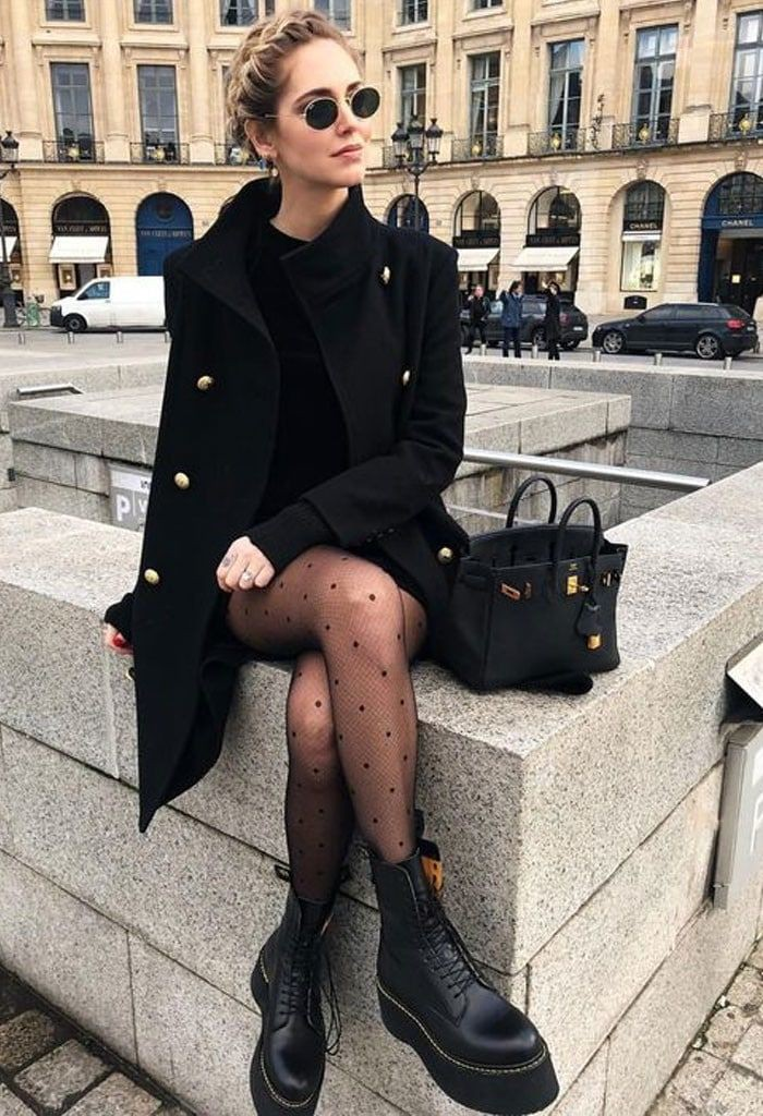 Classy outfit with trousers, blazer, skirt