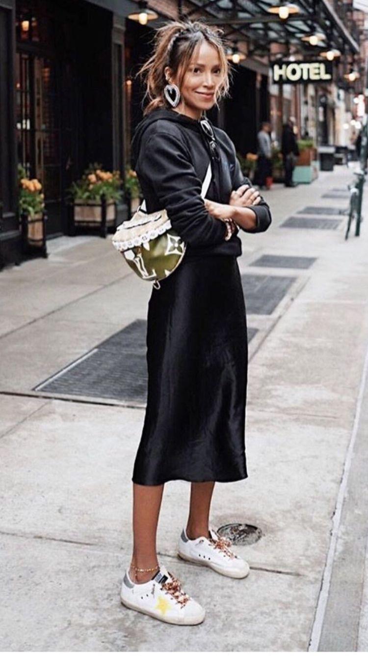 Black clothing ideas with silk little black dress, dress shoe