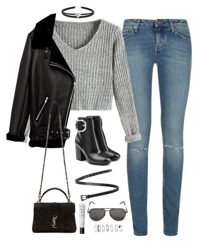 Trendy clothing ideas pinterwst outfits polyvore yves saint laurent, linea pelle