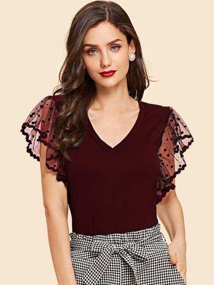 Maroon and pink blouse, top, outfit designs