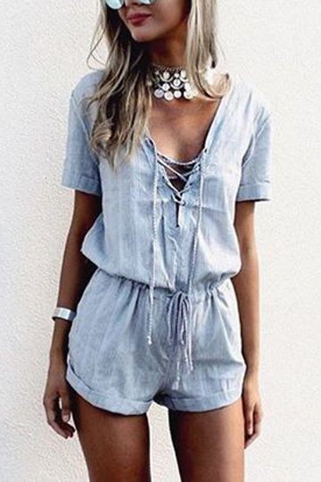 White and blue colour outfit with romper suit, crop top, trousers