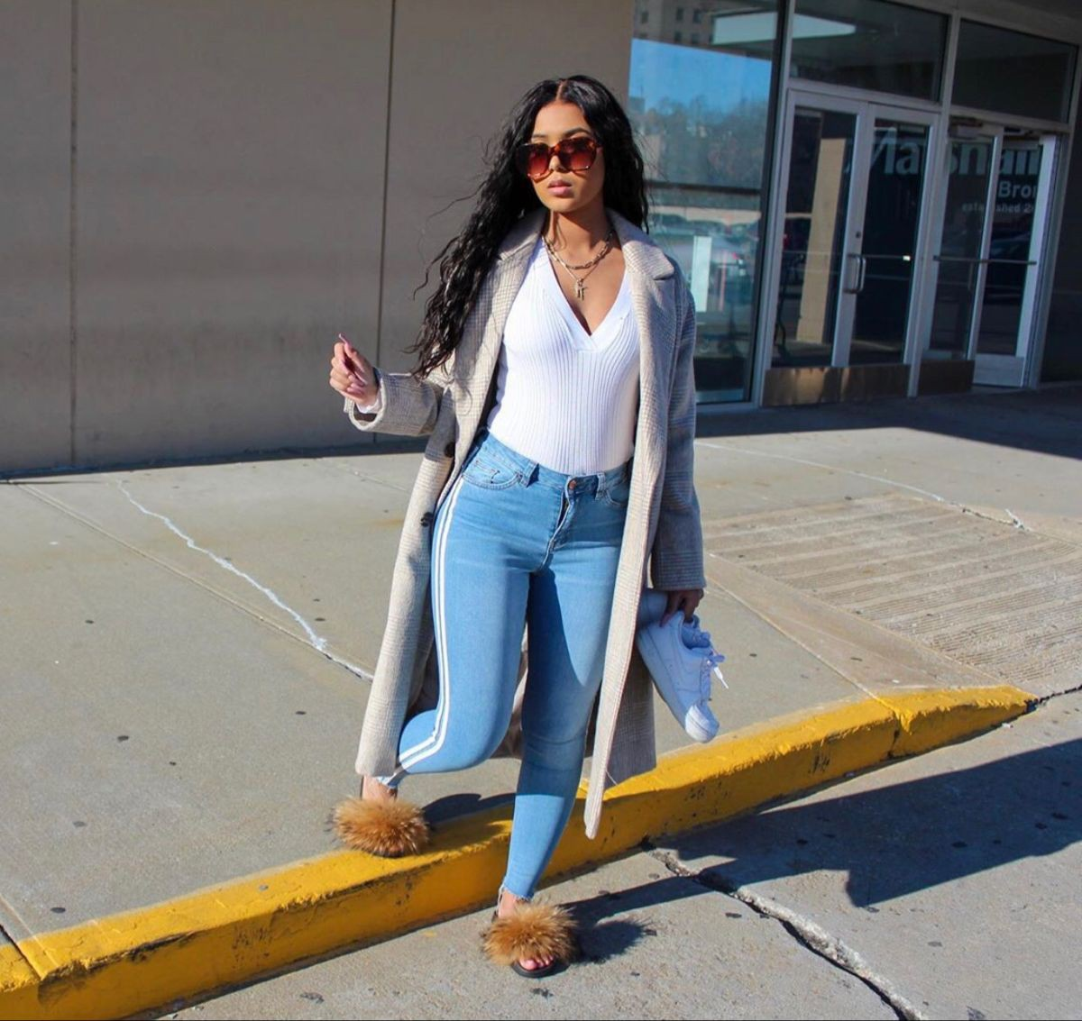 Naysha Wiley trousers, denim, jeans outfits for women