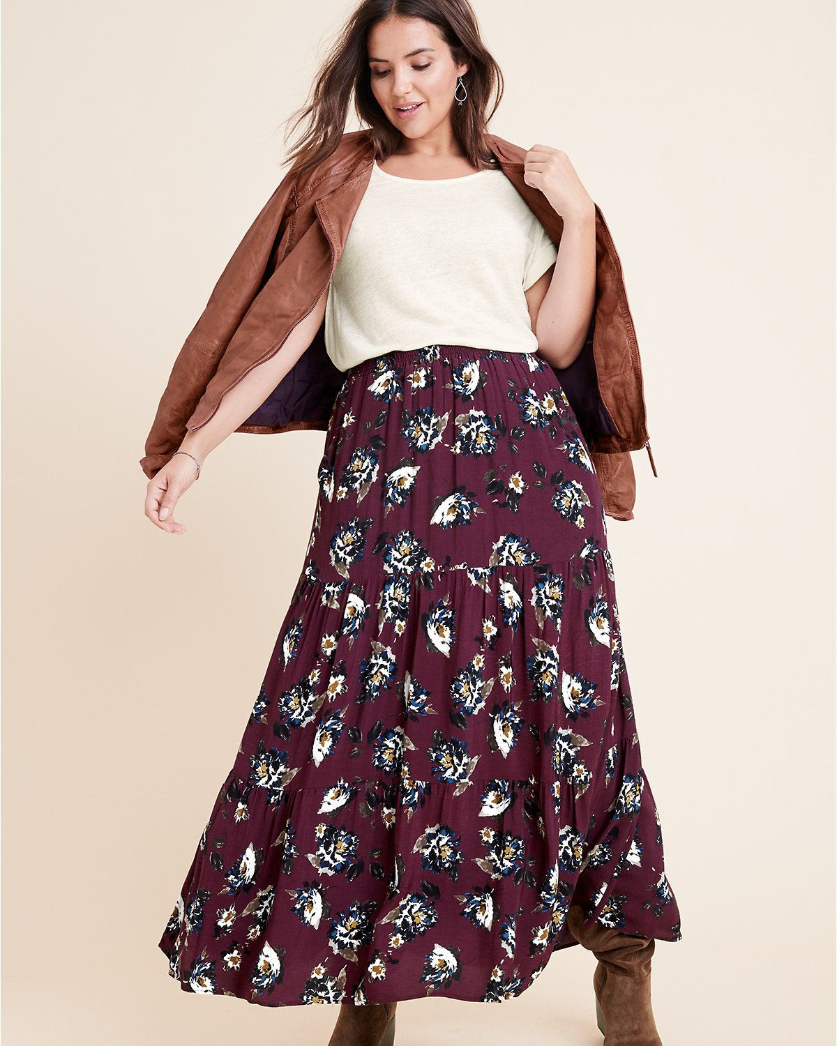 Maroon and brown outfit ideas with day dress, skirt, top