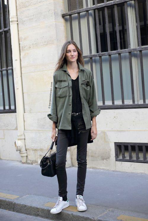 Green outfit ideas with jacket, blazer, denim