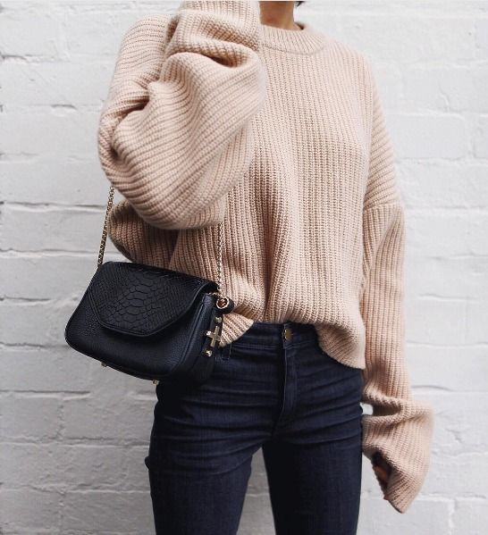 Beige and brown colour dress with sweater, shirt, jeans