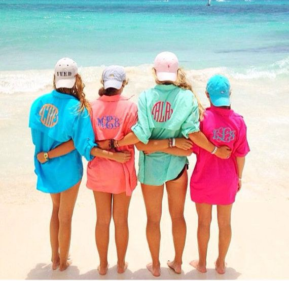 Womens monogram fishing shirts people on beach, fishing shirt