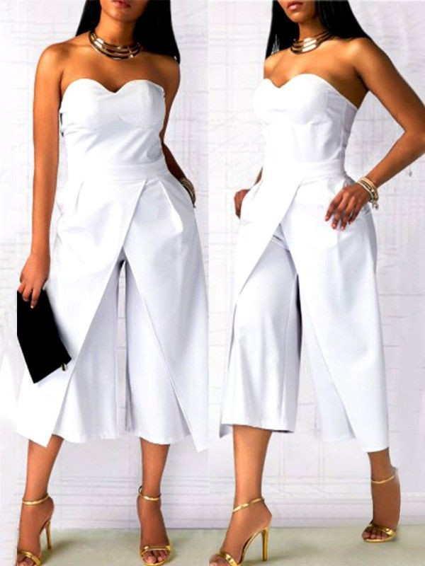 Combinaison femme chic mariage, jumpsuits & rompers, strapless dress, cocktail dress, weddi ...