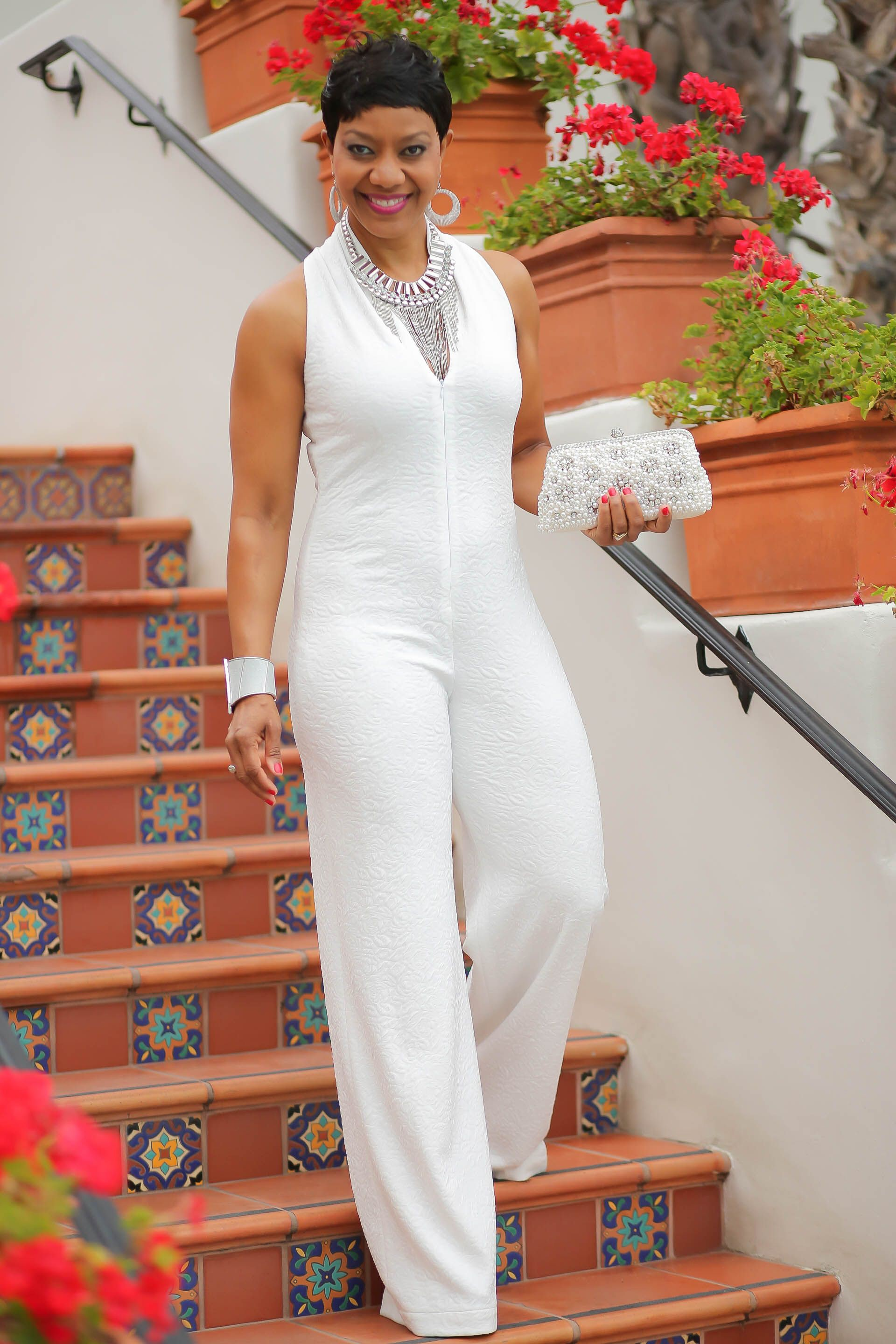 All white jumpsuit for women