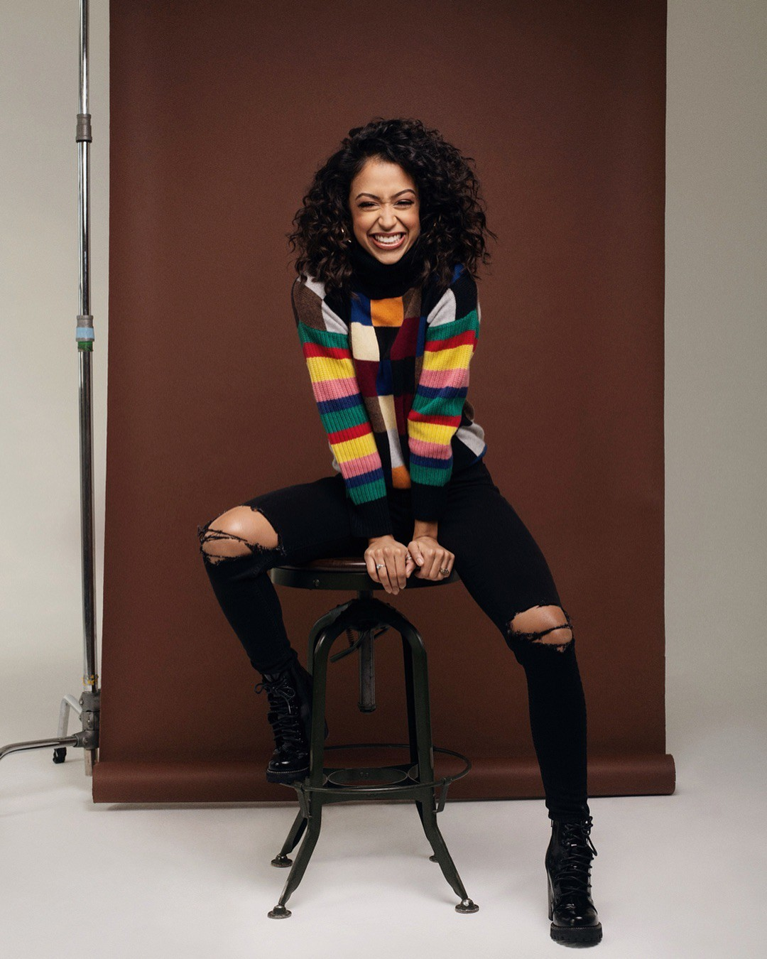 Liza Koshy tights colour outfit ideas 2020, hot girls photoshoot, woman thighs