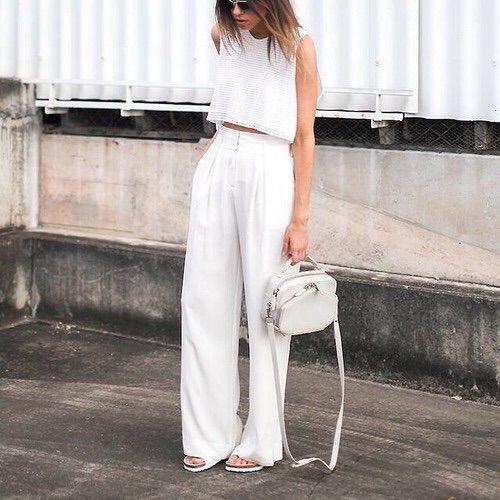 Wide leg pants and matching top