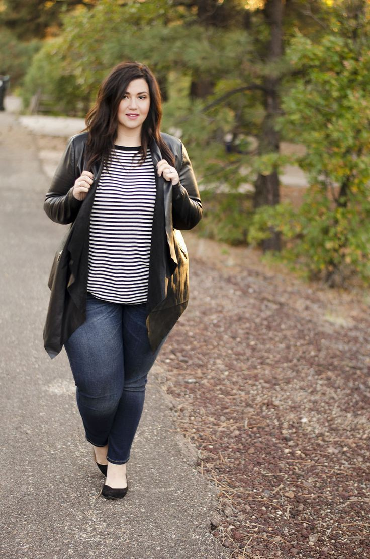 Plus size women cold winter outfit